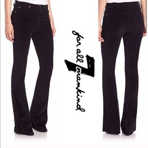 7 For All Mankind Boot cut Black Corduroy Pants